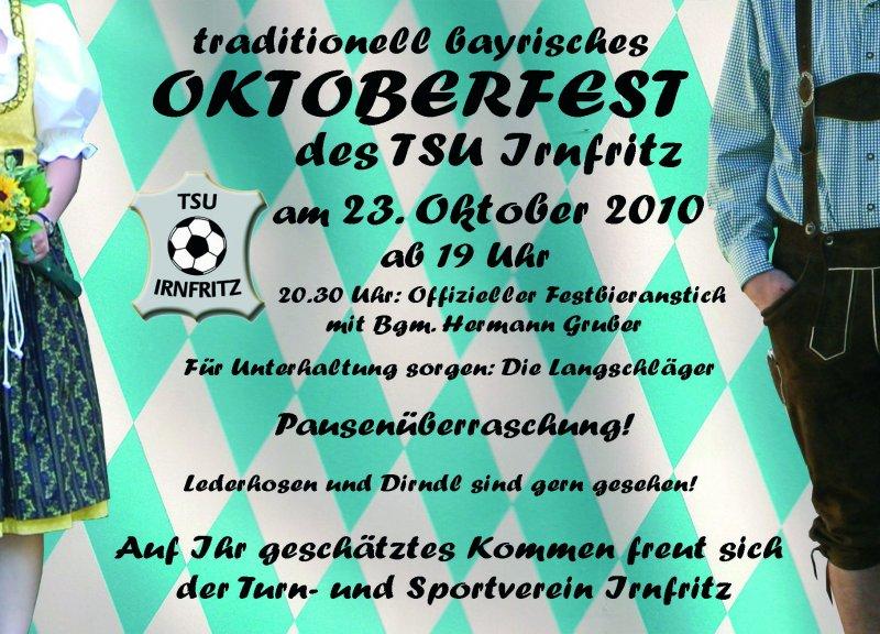einladung oktoberfest 2010 « nachrichten tsu-irnfritz, Einladung
